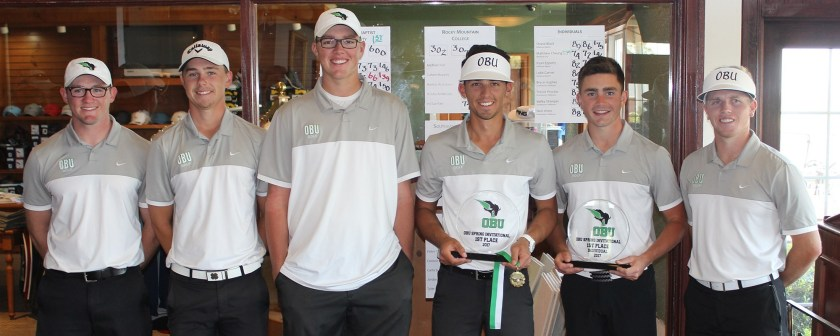OBU men's golf placed first in the Spring Invite hosted at the Shawnee Country Club.