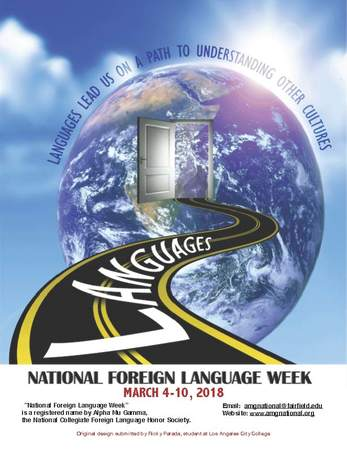 Alpha Mu Gamma hosts National Foreign LanguageWeek