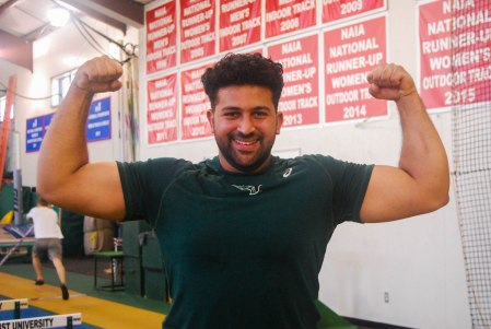 (The Bison/Preston Morris) Saleem hopes that under the guidance of the OBU coaching staff he will one day qualify for the Olympics.