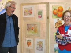 retired OBU associate professor of English Anne Hammond volunteered at the Trek, and professor of music Dr. Jim Vernon enjoyed the art