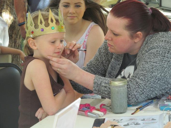 Alisha Weston offered face painting at the last Arts Trek