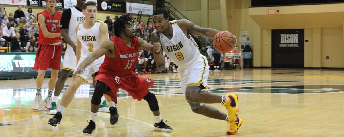 Bison basketball wins big overBarclay