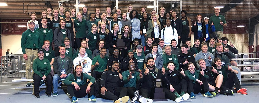 Bison and Lady Bison shine at track indoor GAC Championships